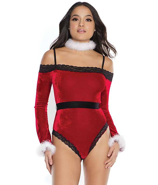 Coquette: Santa Velvet Teddy Set