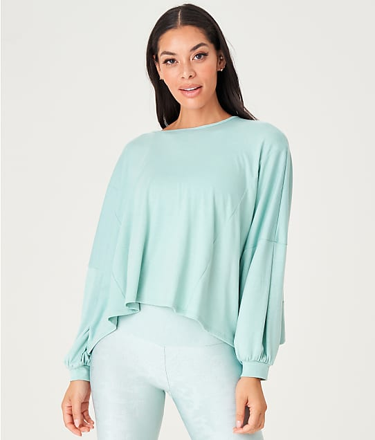 Onzie Knot Long Sleeve Knit Tee in Glacier(Full Sets) 3800