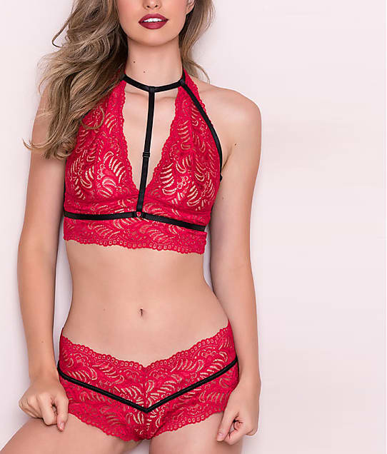 0fc34801badd Oh La La Cheri Soft Lace Harness Bralette Set | Bare Necessities (40 ...