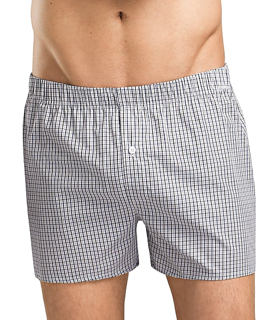Hanro Fancy Woven Boxer in Shaded Check 4013
