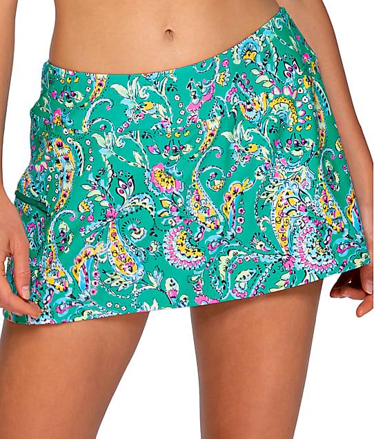 Sunsets: Paradise Paisley Sporty Skirted Bikini Bottom