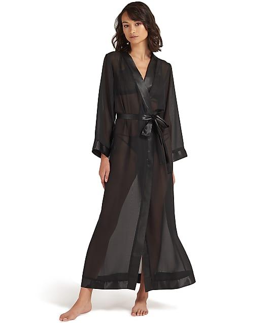 Bluebella Marcella Long Kimono Robe in Black 41073