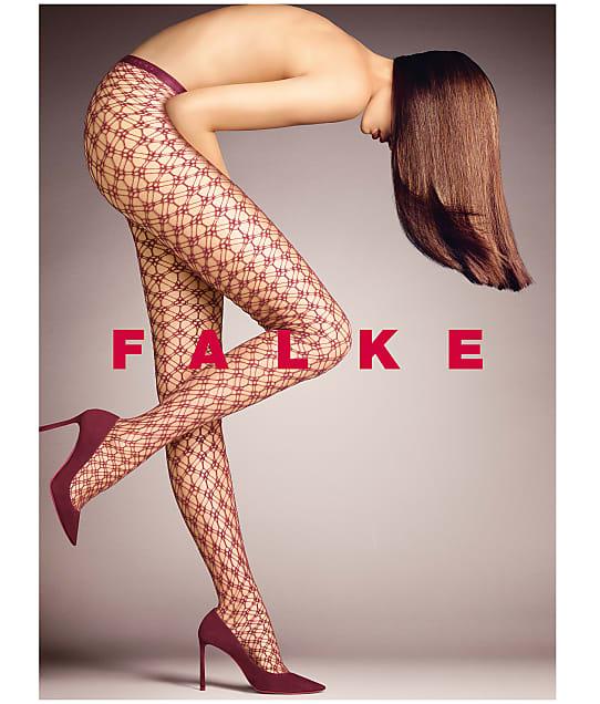 Falke Blackout Net Tights in Pinot Noir 41150