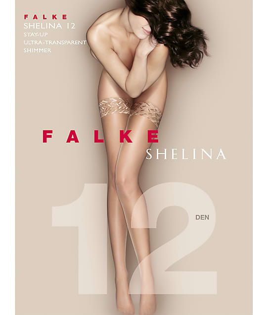 Falke: Shelina 12 Denier Shimmer Stay-Up Thigh Highs