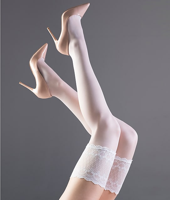 Falke: Pure Shine Stay-Up Thigh Highs