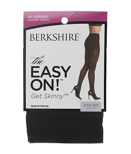 Berkshire: Plus Size Get Skinny Easy On Control Top Tights