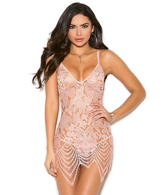 Elegant Moments: Remy Lace Wireless Chemise Set