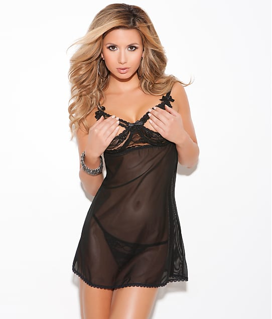 07d33aed15659 Elegant Moments Kria Open Cup Babydoll Set