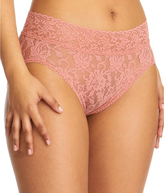 Hanky Panky Signature Lace French Brief in Himalayan Pink Salt 461