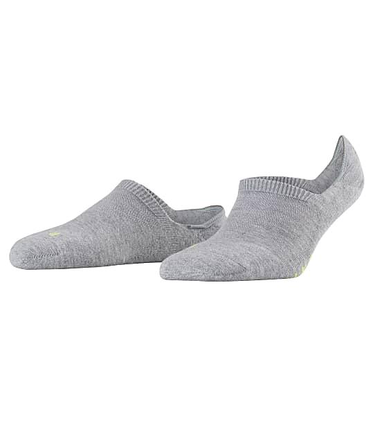 Falke Cool Kick Invisible No Show Socks in Grey Melange(Front Views) 46296