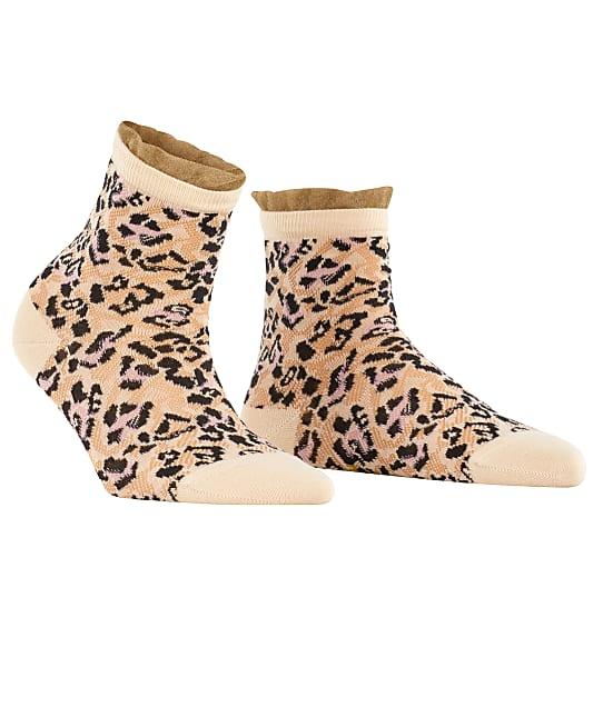 Falke Wild Beauty Ankle Socks in Sandstone(Front Views) 46374