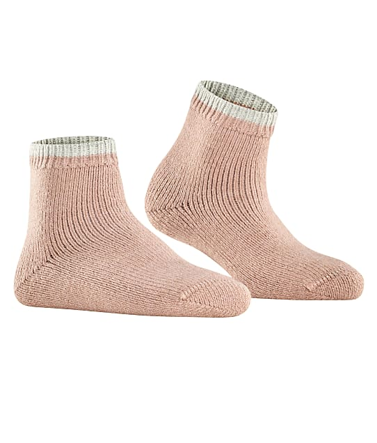 Falke Cosy Plush Ankle Socks in Rosewater(Front Views) 46380
