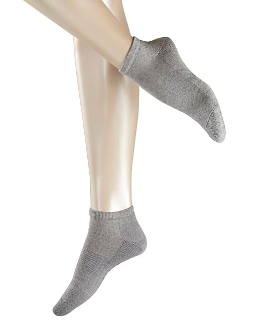 Falke Cosy Sneaker Socks in Light Grey Melange(Front Views) 46512