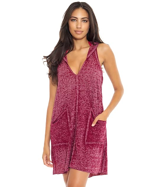 Becca Beach Date Hooded Cover-Up in Berry 4660171
