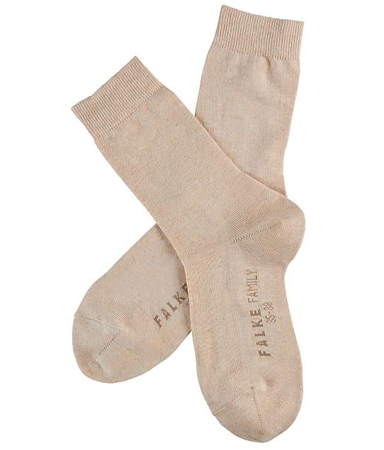 Falke Family Cotton Crew Socks in Sand 47675