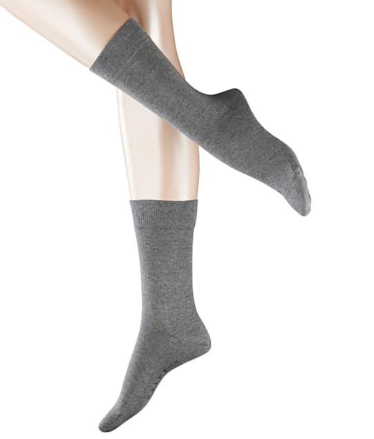 Falke Sensitive London Crew Socks in Light Grey Melange 47686