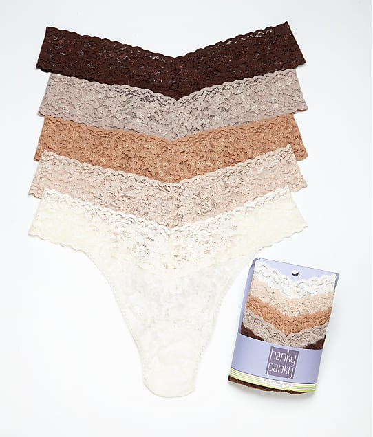 Hanky Panky: Signature Lace Original Rise Thong 5-Pack