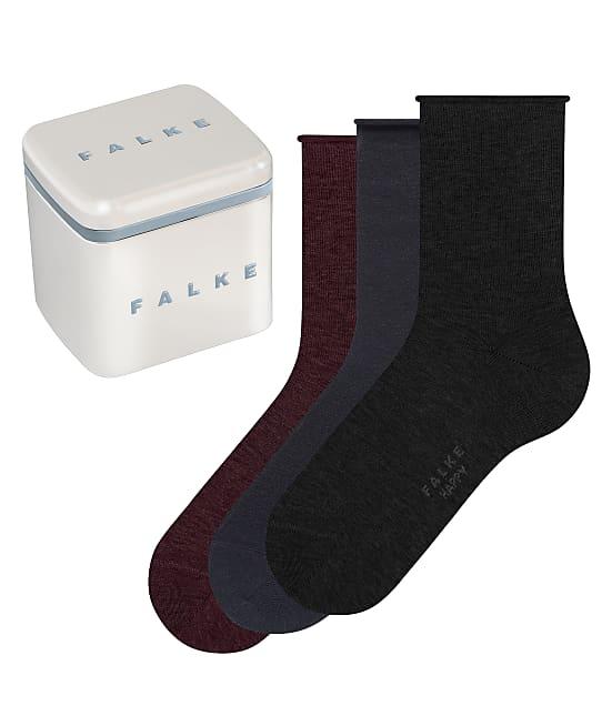 Falke Happy Box Socks 3-Pack in Black Assorted(Front Views) 49151