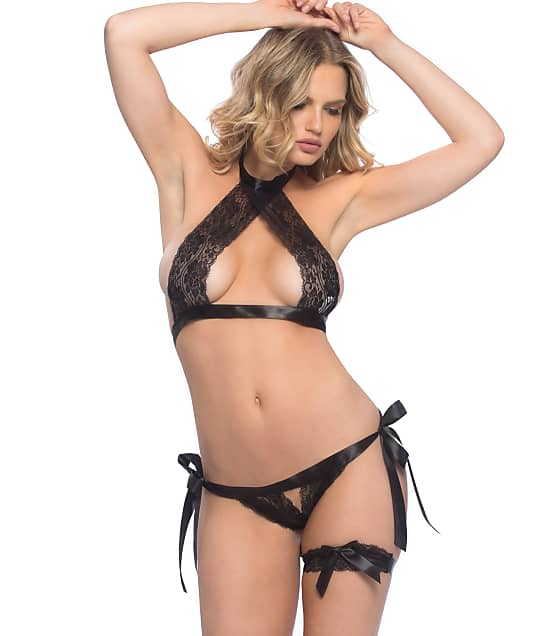 Oh La La Cheri: Lace Halter Bra and Panty Set