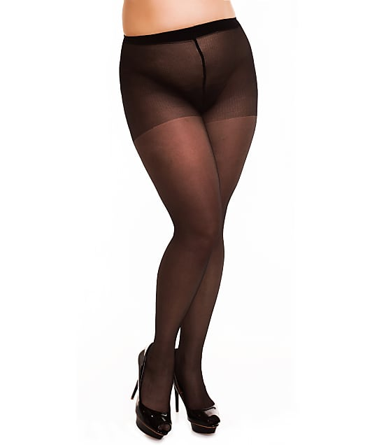 Glamory: Plus Size Satin 20 Pantyhose