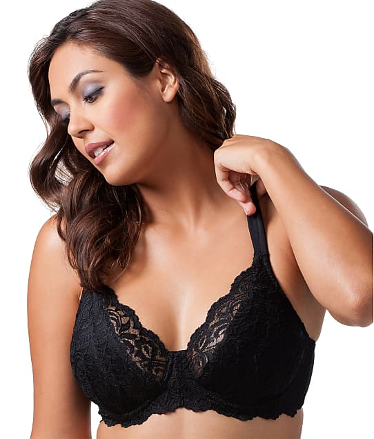 Leading Lady Scalloped Lace Bra in Black 5044