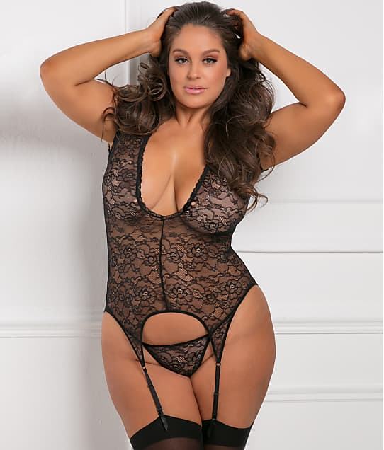 8202d0dc2a8 Rene Rofe Plus Size Finest Of All Garter Chemise Set