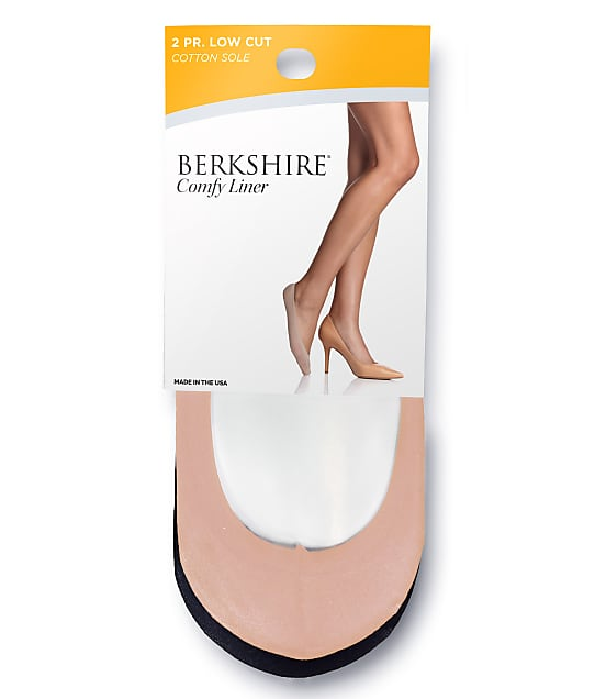 Berkshire: Comfy Cuff Cotton Shoe Liners 2-Pack