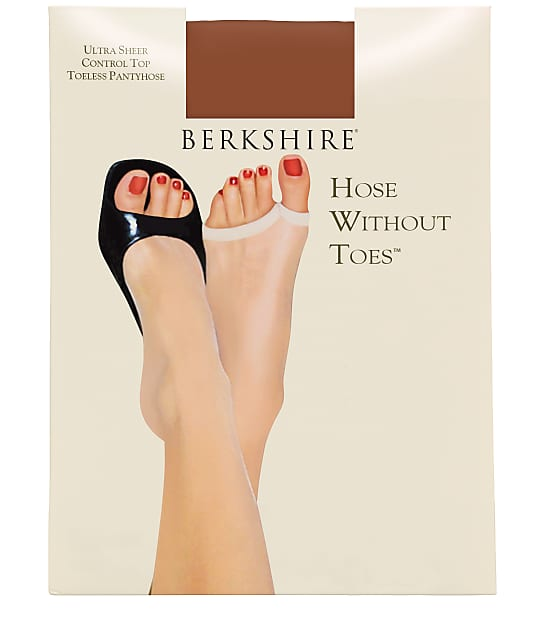 Berkshire Ultra Sheer Toeless Control Top Pantyhose in French Coffee(Front Views) 5115