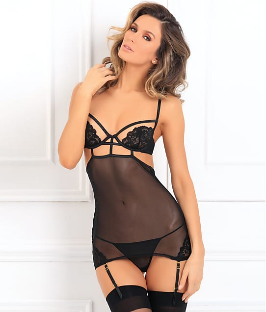 Rene Rofe: Hot Lust Garter Chemise Set