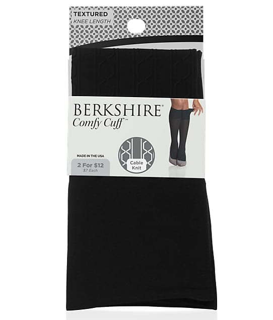 Berkshire: Comfy Cuff Cable Knit Knee Highs