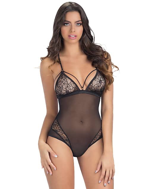 Oh La La Cheri: Lace and Mesh Wire-Free Teddy