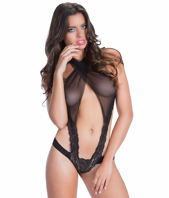 Oh La La Cheri: Criss Cross Mesh and Lace Teddy