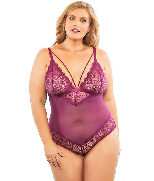 Oh Là Là Chéri   Plus Size Natasha Teddy in Amaranth 52-10771X