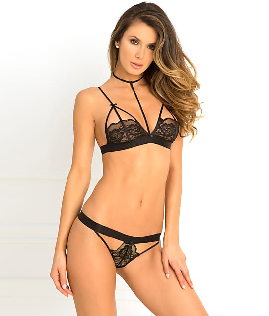 Rene Rofe: Hot Harness Wireless Lace Bra Set