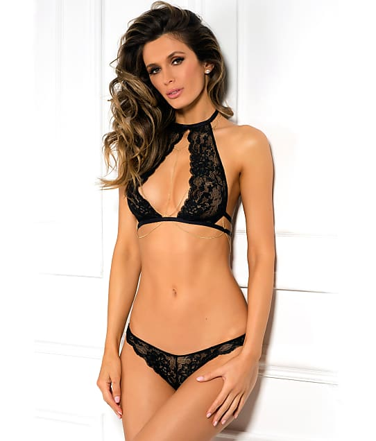 Rene Rofe: Body Chain & Choker Wireless Bra Set