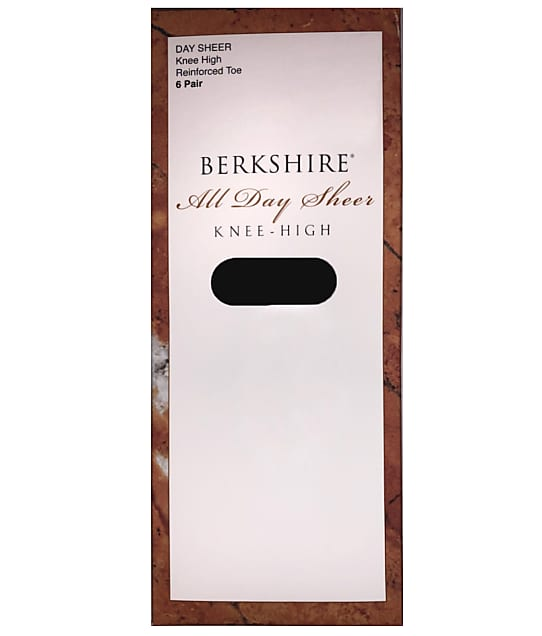 Berkshire: Queen All Day Sheer Knee Highs 6-Pack