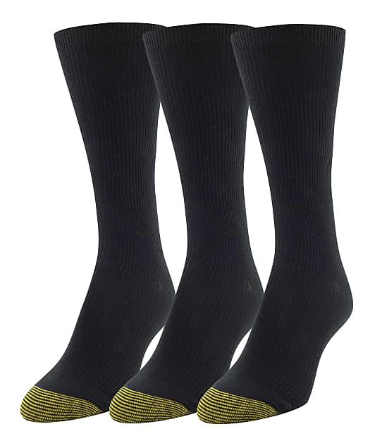 Gold Toe: Premium Comfort Top Ribbed Crew Socks 3-Pack