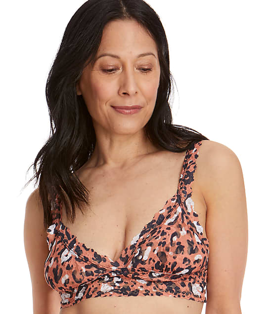 Hanky Panky Cheeky Cheetah Signature Lace Bralette in Multi 5X7044