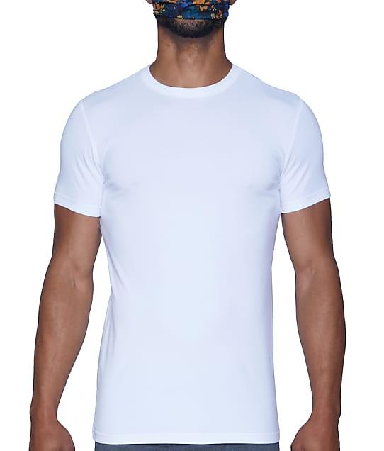 Wood Underwear Modal Crew Neck T-Shirt in White(Front Views) 6100