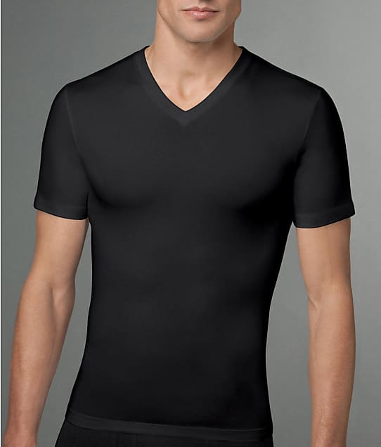 SPANX: Cotton Compression V-Neck T-Shirt