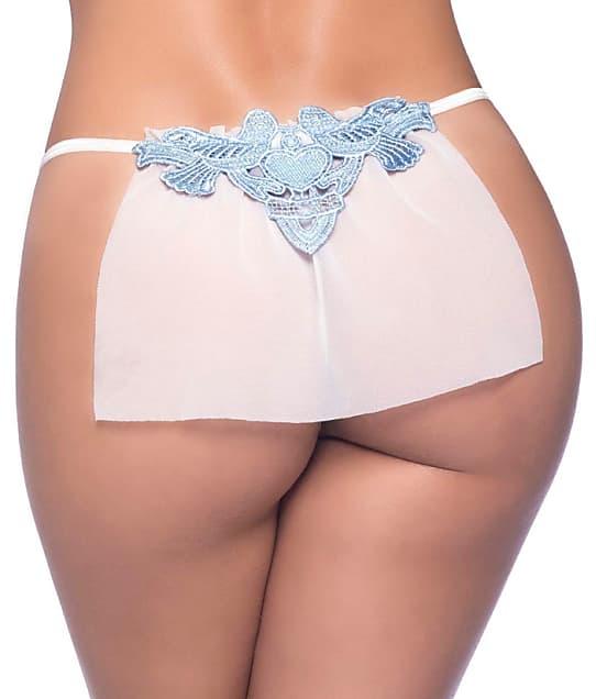 Oh La La Cheri: Veiled Sheer Bridal G-String