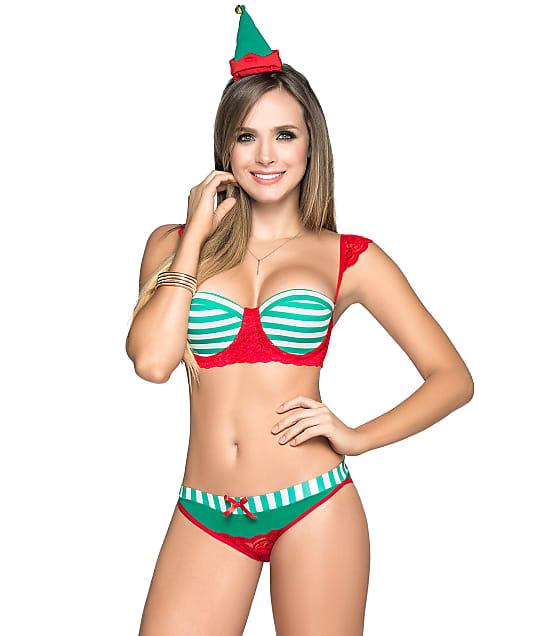 Mapalé: Santa's Sexy Elf Bra & Panty Set