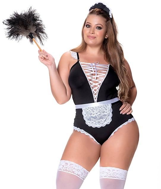 Mapalé: Plus Size French Maid Teddy Set