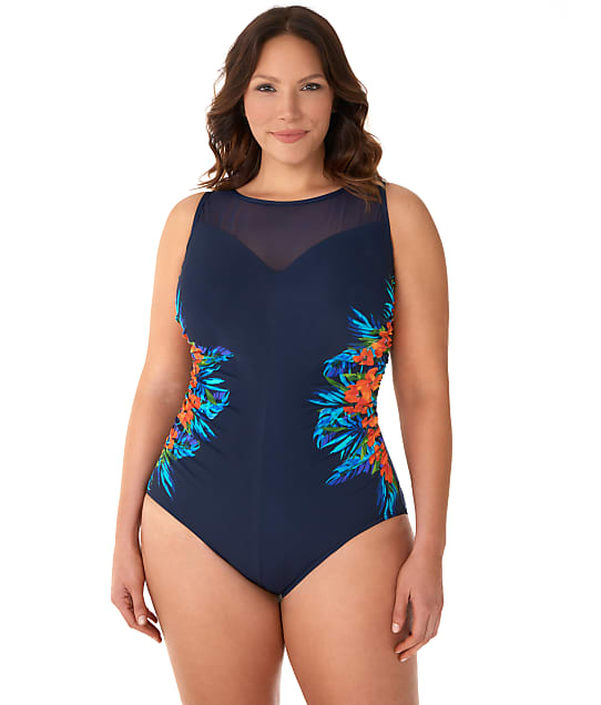 24939d1a7be43 Miraclesuit Plus Size Samoan Sunset Underwire One-Piece