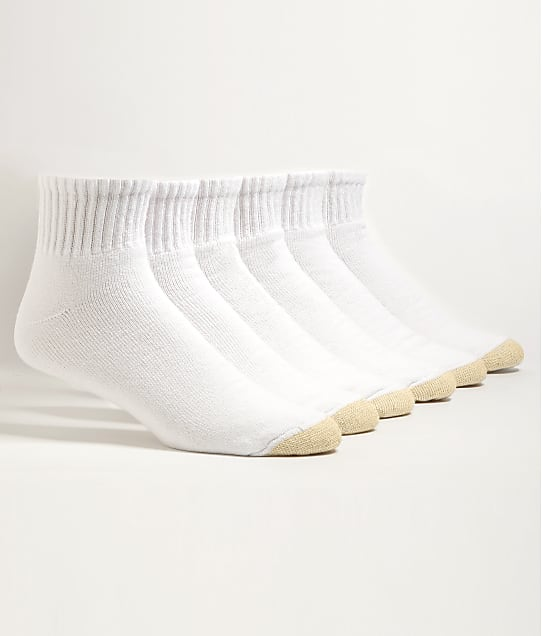 Gold Toe: Cotton Cushion Big & Tall Ankle Socks 6-Pack
