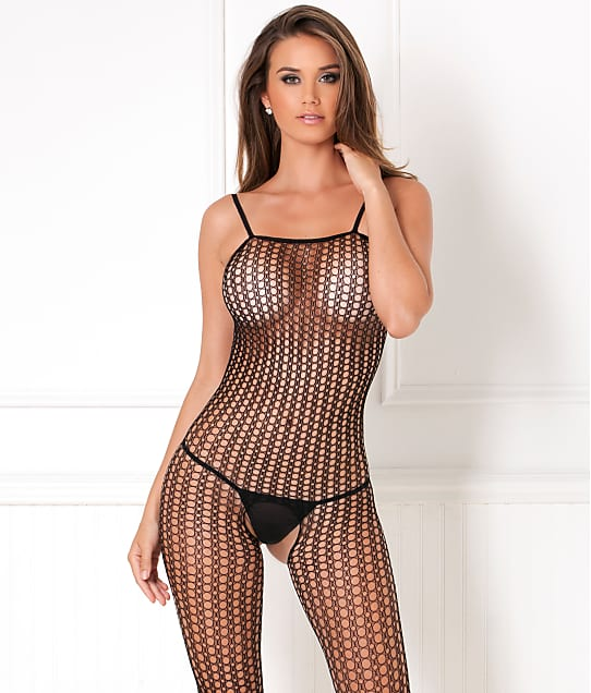 Rene Rofe: Quarter Crochet Net Crotchless Bodystocking