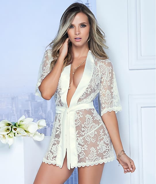 Mapalé: Lace Robe & Matching G-String Set