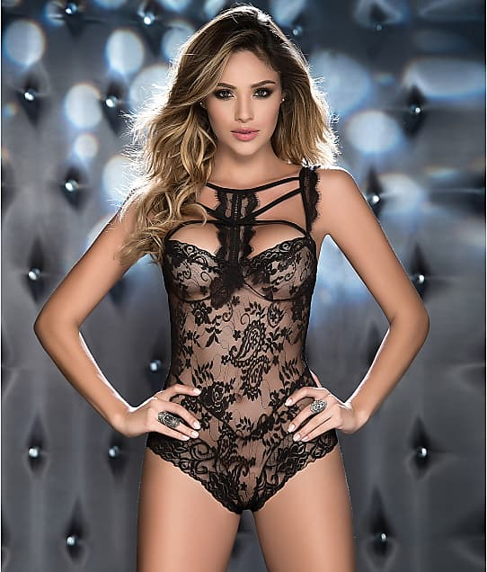 Mapalé: High Neck Wireless Lace Teddy
