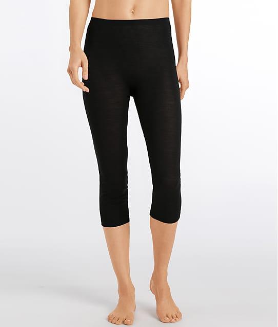 Hanro Woolen Silk Leggings in Black 71419