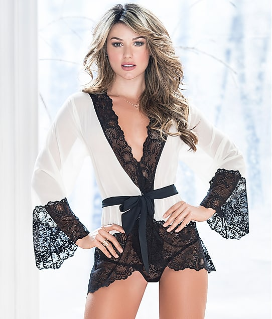 Mapalé: Chiffon & Lace Robe Set